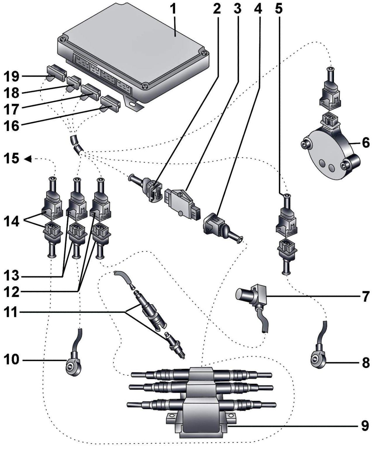 электрическая схема зажигания ауди а8